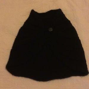 Hand-Knit Black Shawl Shoulder Wrap